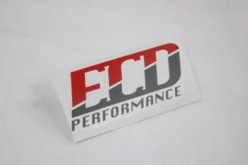 ECD-Performance Logo Aufkleber 2 Farbig matt
