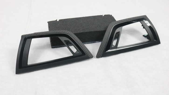 Rechtslenker Carbon Frischluftgrill Blenden passend bei BMW LCI F20 F21 F22 F23 F87 M2 Competition