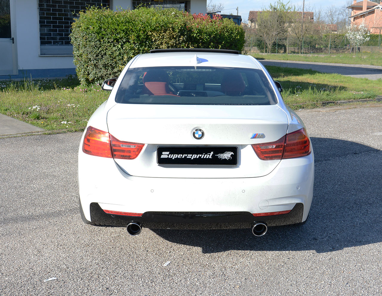 Rear Exhaust 335i With Centre Exhaust 1x100mm 1x100mm With Valvee