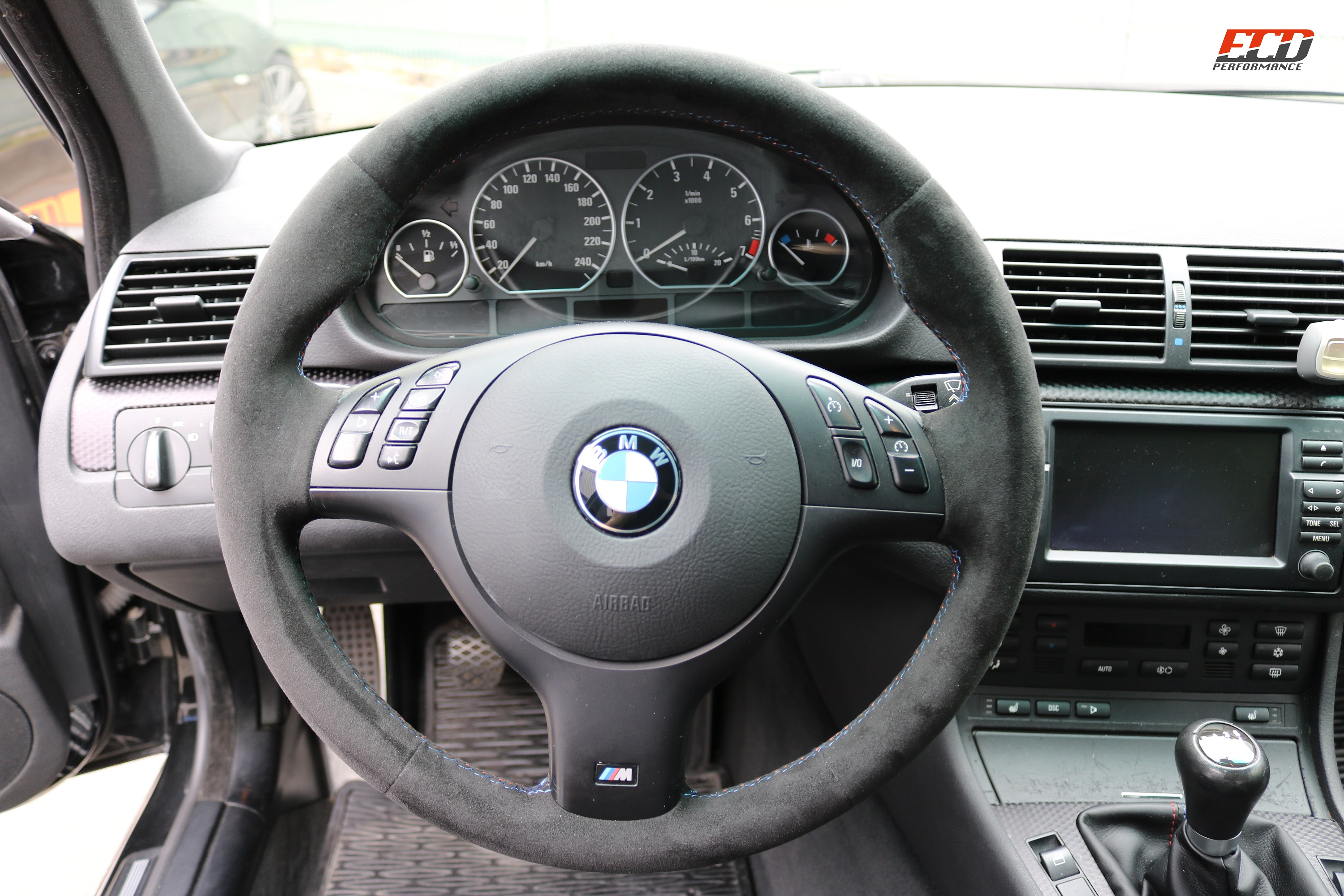 Steering Wheel New Bmw E46 Alcantara Desired Color Without 12 O Clock Position Without Upholstery My Parts For Finishing