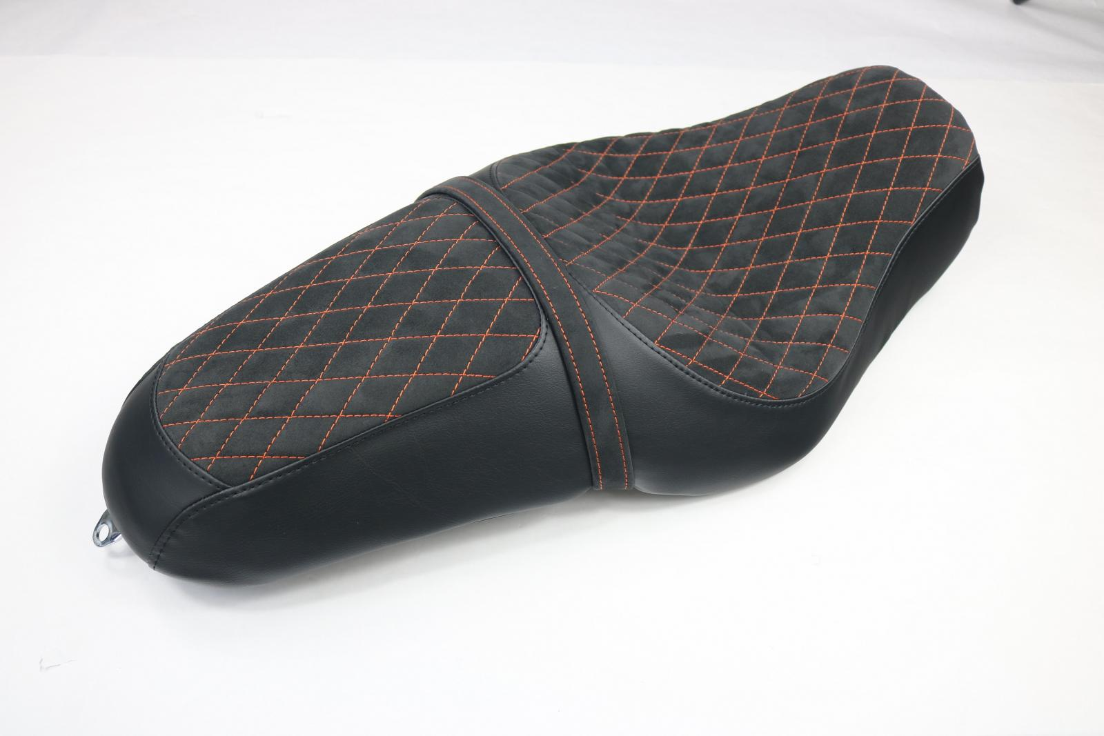 1200 Custom Alcantara Bench With Diamonds And Leather On The Side Ecd Hd Seat