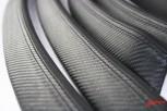 Carbonleder Interieurleisten E90 E91 M3 Nappa Carbon- und Nappaleder / Doppelnaht / Blau / Meine Teile zur Veredelung