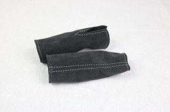 Belt buckle covers front 195mm Alcantara Deep black / grey / Alcantara
