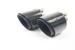 2 Carbon Endrohre 95mm für BMW F20 F21 M135i M140i Schwarze Kante / Matt / Geschliffen