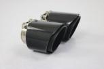 2 Carbon Endrohre 95mm für BMW F20 F21 M135i M140i Farbige Kante / Matt / Geschliffen