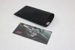 Gutschein Tasche aus Alcantara, Verpackung für Briefumschlag für DIN Lang