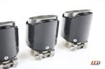 Carbon Endrohr 95mm Glänzend / Farbige Kante / Geschliffen