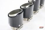 1 Carbon Endrohr 95mm mit Edelstahl Konstruktion Wagenfarbe  Auspuff