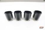 Carbon Endrohr 95mm Glänzend / Scharfe Kante / Schwarz Matt
