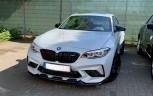 Carbon Fronteinsätze passend für BMW M2 Competition F87 Glänzend